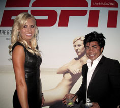 Pierre Pasa attends ESPY Awards with Courtney Force